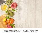 fresh ingredients for italian...   Shutterstock . vector #668872129