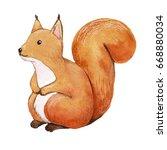 Cute Squirrel  Hand Drawn...