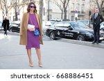 paris march 5  2015. street... | Shutterstock . vector #668886451