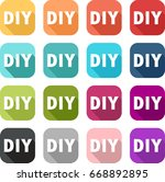 icon of do it yourself colorful ... | Shutterstock .eps vector #668892895