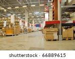 warehouse store - stock photo