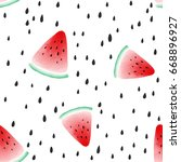 seamless pattern with seeds and ... | Shutterstock .eps vector #668896927