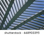 architectural structure detail | Shutterstock . vector #668903395