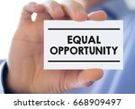 equal opportunity | Shutterstock . vector #668909497