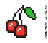pixel art cherry icon game fruit