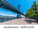 The Benjamin Franklin Bridge...