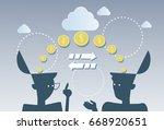 money flow business investment... | Shutterstock .eps vector #668920651