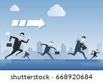 business people group run team...   Shutterstock .eps vector #668920684
