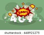 404 not found error message... | Shutterstock .eps vector #668921275
