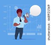 african american business man...   Shutterstock .eps vector #668921569