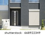 exterior view of the house... | Shutterstock . vector #668922349