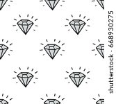 diamond seamless doodle pattern | Shutterstock .eps vector #668930275
