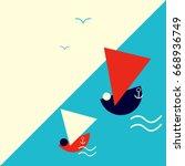 suprematism or constructivist... | Shutterstock .eps vector #668936749