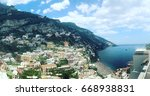 positano  italy   may 28  2017  ... | Shutterstock . vector #668938831