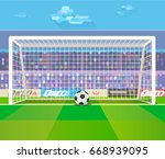 vector illustration of soccer... | Shutterstock .eps vector #668939095