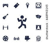 Set Of 13 Entertainment Icons...