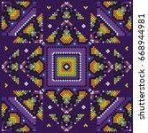 mexican indigenous art | Shutterstock .eps vector #668944981