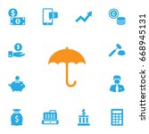 set of 13 budget icons set... | Shutterstock .eps vector #668945131