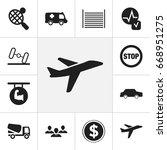 set of 12 editable complex... | Shutterstock .eps vector #668951275