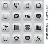 set of 16 editable device icons....