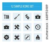 set of 12 editable toolkit...