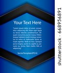 template blue  black and white...   Shutterstock .eps vector #668956891