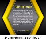 template black  yellow and...   Shutterstock .eps vector #668958319