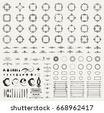 circle and square wicker... | Shutterstock . vector #668962417