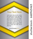 template silver  yellow and...   Shutterstock .eps vector #668965465