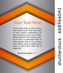 template silver  orange and...   Shutterstock .eps vector #668966041