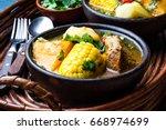 latin american chilean food.... | Shutterstock . vector #668974699