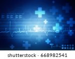 2d medical structure background | Shutterstock . vector #668982541
