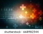 2d medical structure background | Shutterstock . vector #668982544