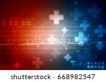 2d medical structure background | Shutterstock . vector #668982547