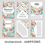 abstract vector layout... | Shutterstock .eps vector #668992885