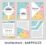abstract vector layout... | Shutterstock .eps vector #668993125
