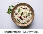 curd rice   dahi bhat or chawal ... | Shutterstock . vector #668994901