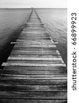 Black And White Ocean Pier Wit...