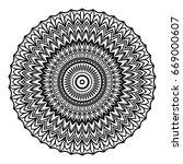 floral mandala. creative anti... | Shutterstock .eps vector #669000607