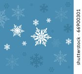 snow flakes blue background | Shutterstock . vector #66900301