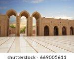 oman. grand mosque in muscat. ...   Shutterstock . vector #669005611
