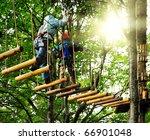 adventure climbing high wire... | Shutterstock . vector #66901048