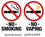 no smoking including electronic ... | Shutterstock .eps vector #669014059