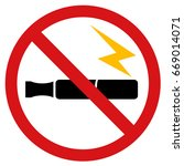 no electronic cigarettes sign. | Shutterstock .eps vector #669014071