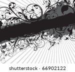 floral banner background | Shutterstock .eps vector #66902122
