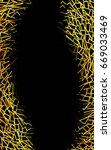 dark red polygonal illustration ... | Shutterstock . vector #669033469