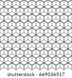 heaxgon seamless pattern.... | Shutterstock .eps vector #669036517