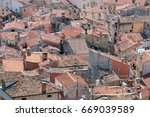 houses with tiled roof  top... | Shutterstock . vector #669039589