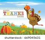 happy thanksgiving. vector... | Shutterstock .eps vector #669045631
