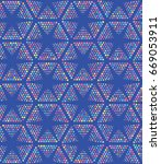 vector color dot pattern.... | Shutterstock .eps vector #669053911